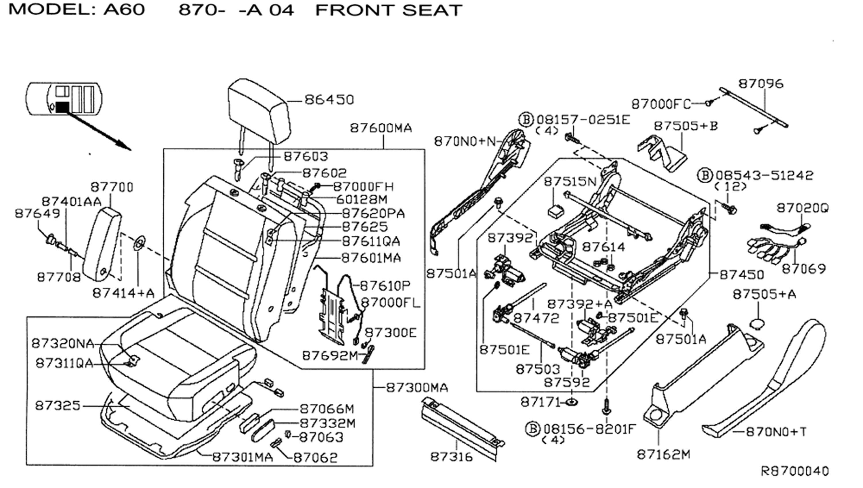Truck Seat Diagram Block And Schematic Diagrams 1964 T Bird Wiring Drivers Side Cushion Nissan Titan Forum Rh Titantalk Com Belt To Barn