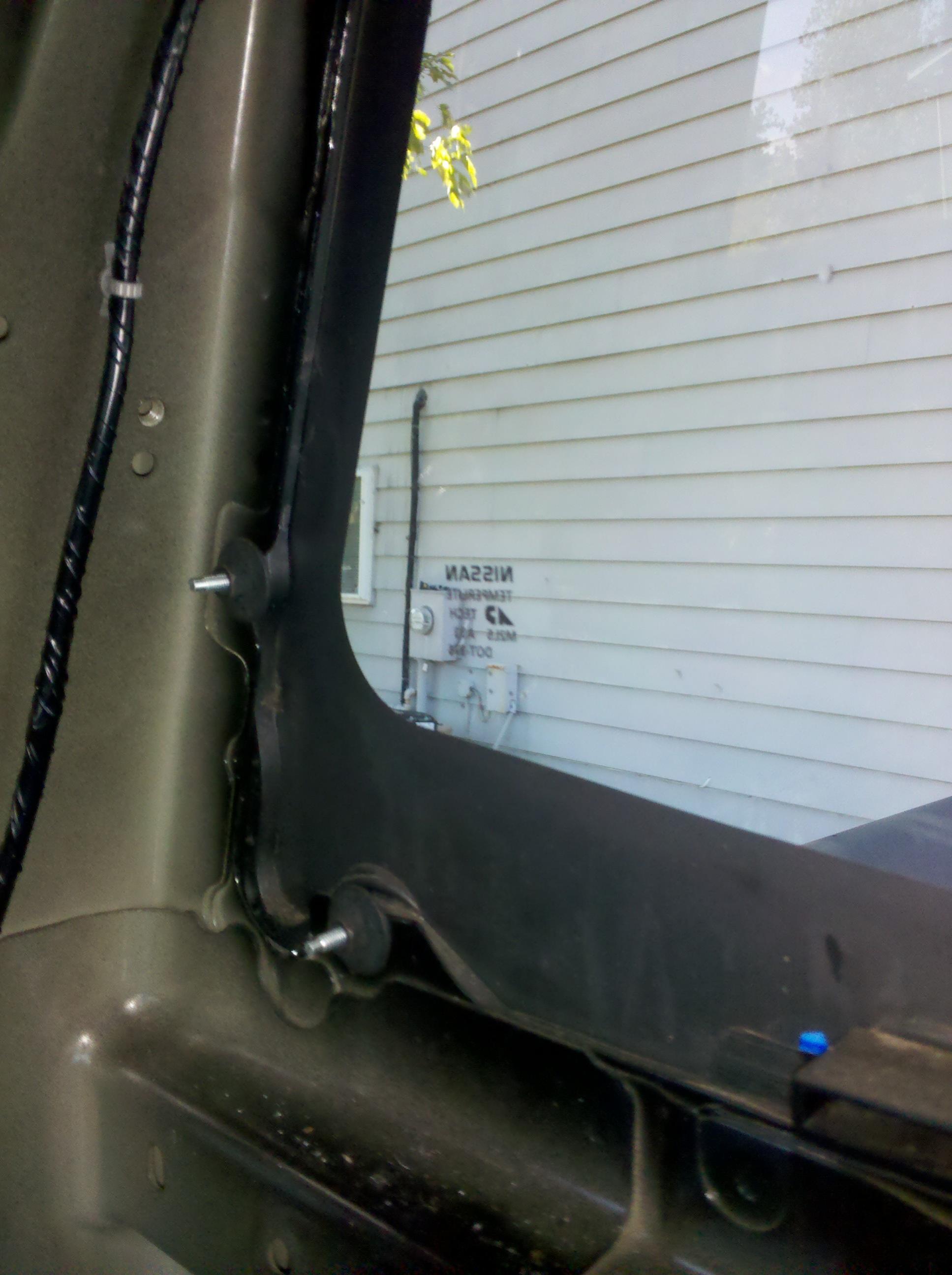Rear Power Window Removal Nissan Titan Forum 2011 Engine Diagram Frame Nuts