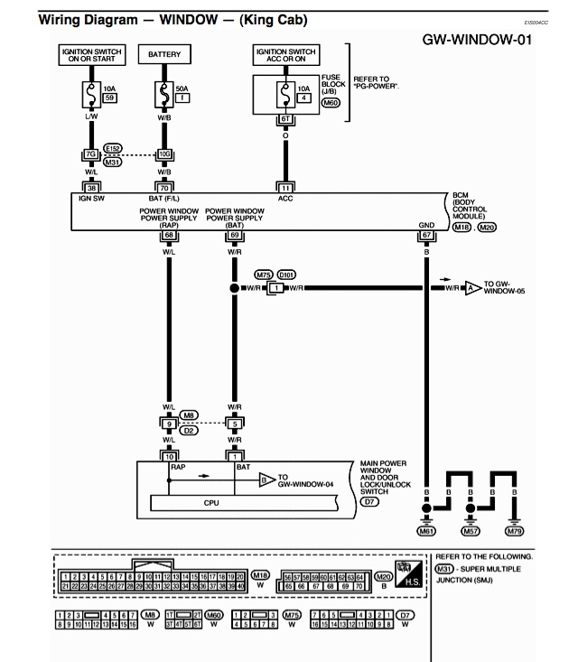 I Need Wiring Diagram For Power Window Switches