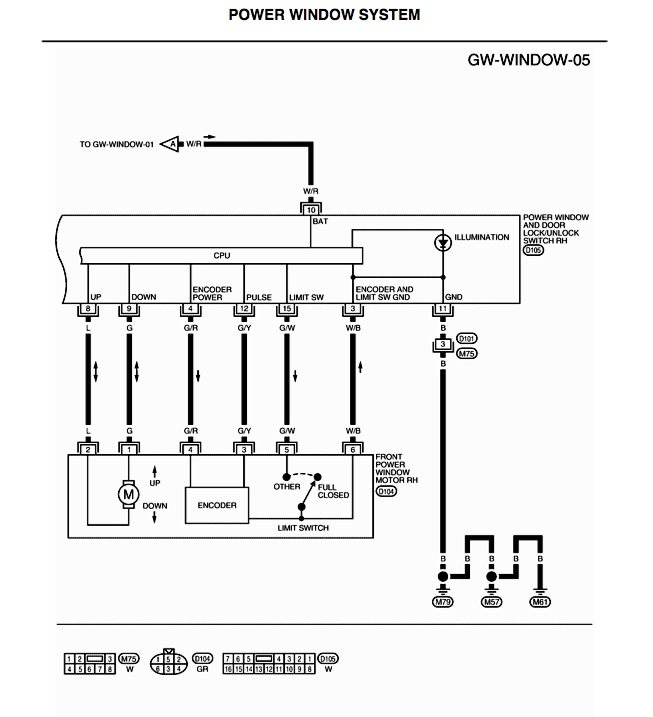 need wiring diagram for power window switches - Nissan Titan Forum