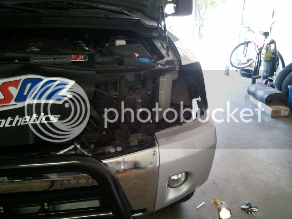 Grill Removal & HID Headlight Install | Nissan Titan Forum