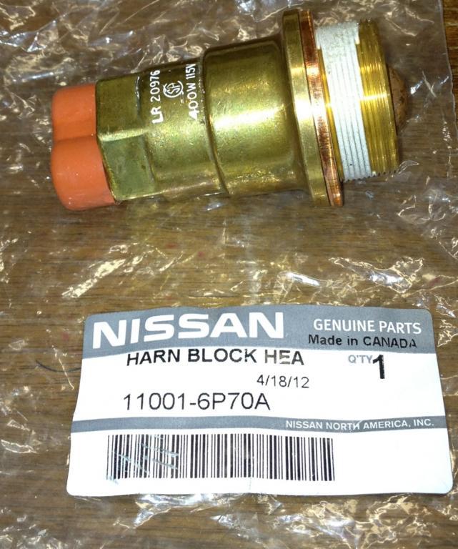 Nissan Block Heater Install